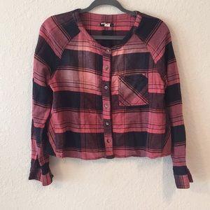 BDG Red Plaid Button Down Shirt